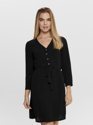 Čierne šaty Jacqueline de Yong Neeve dámské čierna XXL