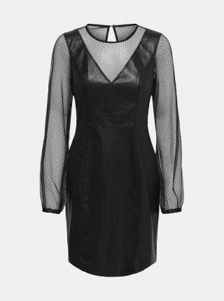 Čierne šaty s povrchovou úpravou ONLY Britt dámské čierna S