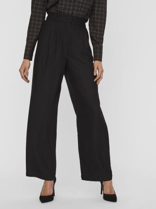 Čierne široké nohavice AWARE by VERO MODA Minna dámské čierna L