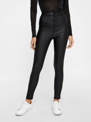 Čierne skinny fit nohavice s povrchovou úpravou Noisy May Ella dámské čierna XS