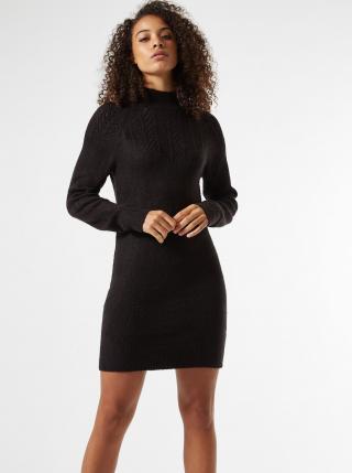 Čierne svetrové šaty Dorothy Perkins Tall dámské čierna S