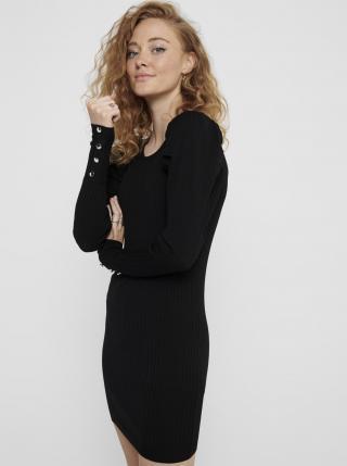 Čierne svetrové šaty ONLY Avy dámské čierna XS