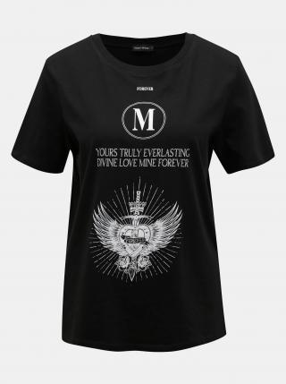 Čierne tričko s potlačou TALLY WEiJL - XS dámské čierna XS