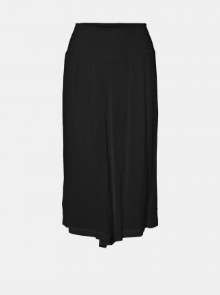 Čierne voľné 3/4 nohavice VERO MODA CURVE Grace dámské čierna XXL