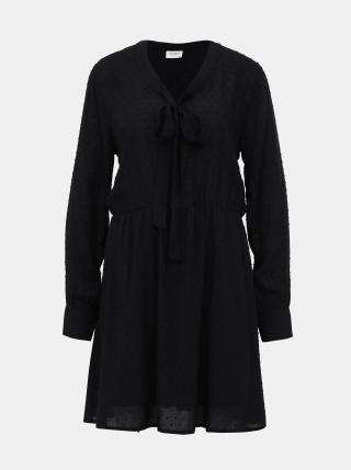 Čierne vzorované šaty Jacqueline de Yong Riise dámské čierna XS