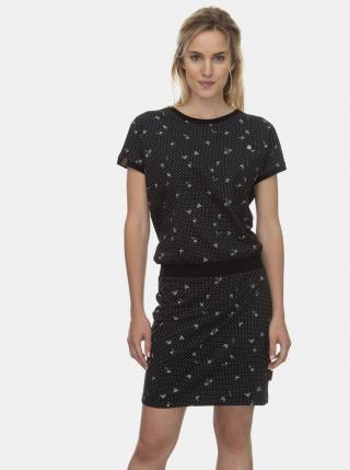 Čierne vzorované šaty Ragwear Odyl - XS dámské čierna XS