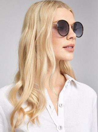Čierne vzorované slnečné okuliare Dorothy Perkins čierna