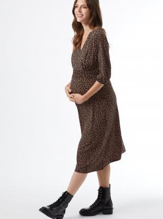 Čierne vzorované tehotenské midišaty Dorothy Perkins Maternity dámské čierna M