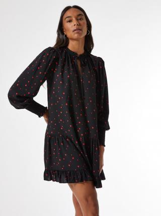 Čierne vzorované voľné šaty Dorothy Perkins dámské čierna XXL