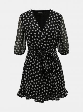 Čierne vzorované zavinovacie šaty TALLY WEiJL dámské čierna S