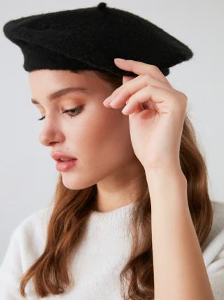 Čierny dámsky baret Trendyol dámské čierna ONE SIZE