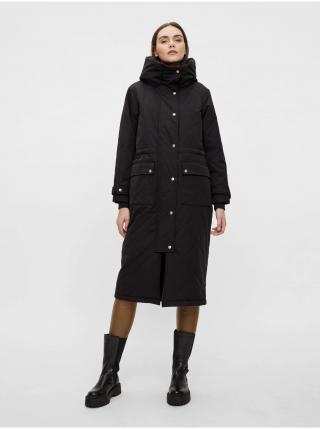 Čierny kabát s kapucou .OBJECT Katie dámské čierna L