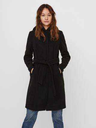 Čierny kabát s kapucou VERO MODA dámské čierna XS