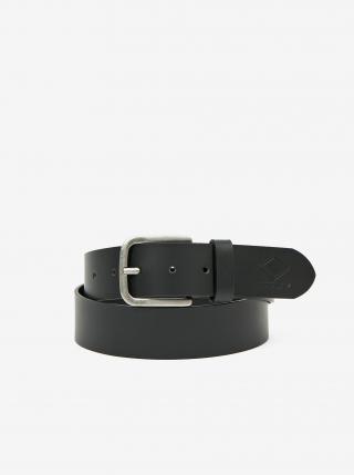 Čierny pánsky kožený opasok Replay pánské čierna 95