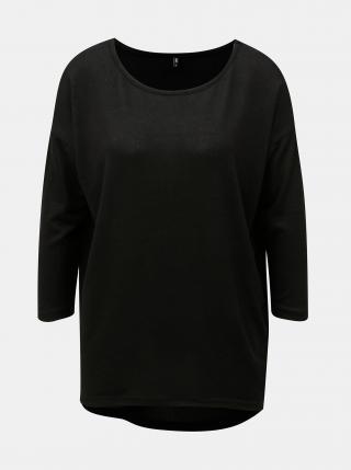 Čierny voľný sveter s 3/4 rukávom ONLY dámské čierna S
