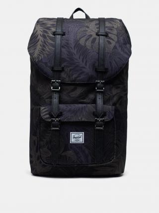 Čierny vzorovaný batoh Herschel Supply pánské čierna