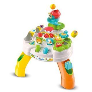Clementoni Clemmy baby - Veselý hrací stolek s kostkami a zvířátky