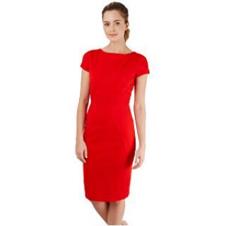 Closet London Dámske šaty Closet Body-con Ponte Pencil Dress Red M dámské