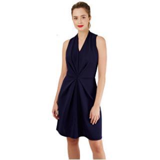 Closet London Dámske šaty Closet Centre Pleats A-Line Dress Navy L dámské