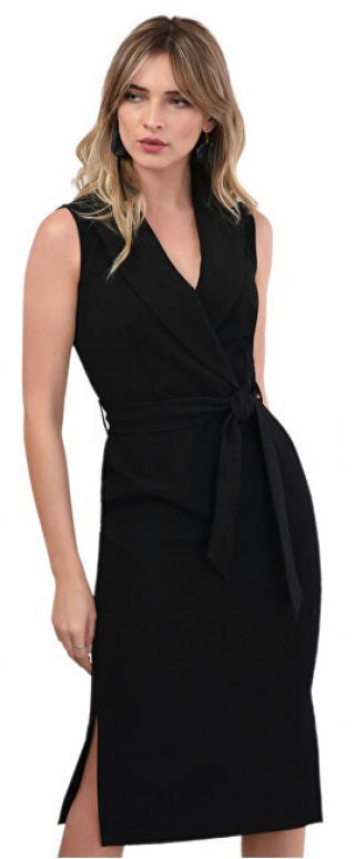 Closet London Dámske šaty Closet Collared Pencil Dress Black XL dámské