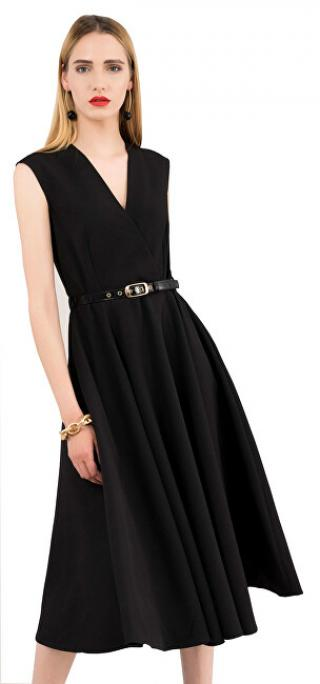 Closet London Dámske šaty Closet Flared Wrap Dress With Belt Black S dámské