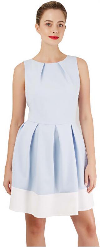 Closet London Dámske šaty Closet Hackney Dress Light Blue/White XL dámské