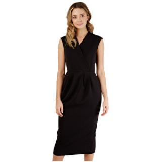Closet London Dámske šaty Closet Princess Seam Wrap Dress Black S dámské