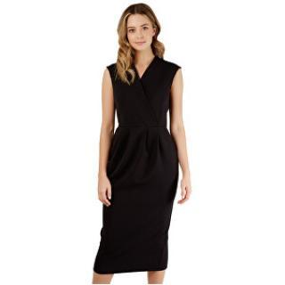 Closet London Dámske šaty Closet Princess Seam Wrap Dress Black XXL dámské