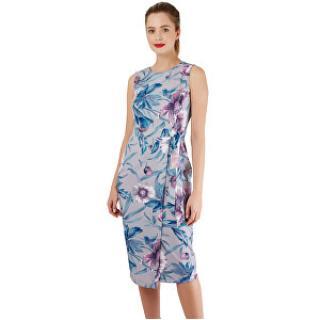 Closet London Dámske šaty Closet Tie V-Back Pencil Dress Grey L dámské
