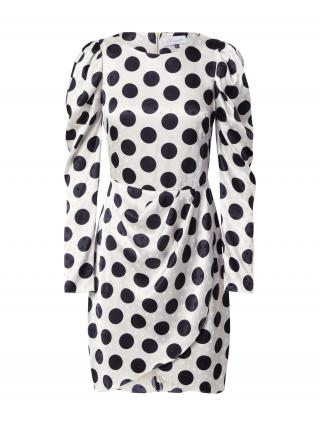 Closet London Kokteilové šaty  šedobiela / čierna dámské 44