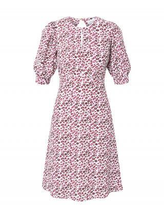 Closet London Šaty  biela / fuksia / orgovánová / vínovo červená dámské 40