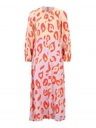 Closet London Šaty  marhuľová / fialová / svetločervená / žltá dámské 42