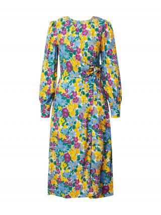 Closet London Šaty  modrá / pitaya / žltá dámské 36