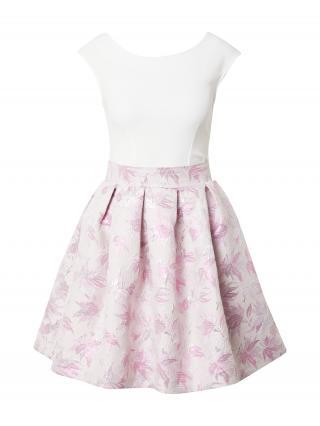 Closet London Šaty  svetloružová / biela dámské 38
