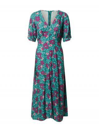 Closet London Šaty  tyrkysová / nefritová / eozín / ružová dámské 40