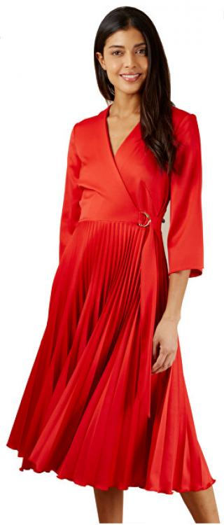 Closet London ZĽAVA- Dámske šaty Closet Wrap Pleated Dress Red XL dámské