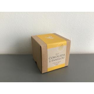 Čokoládové peniažky v krabičke - biela čokoláda s panelou