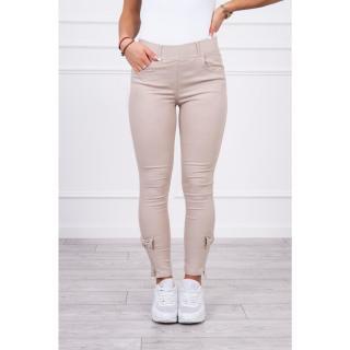 Colorful jeans with bow beige dámské Other S/M/L