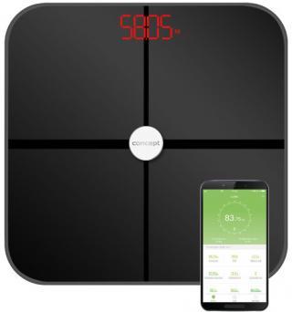 Concept VO4011 Osobní váha diagnostická 180 kg PERFECT HEALTH, černá