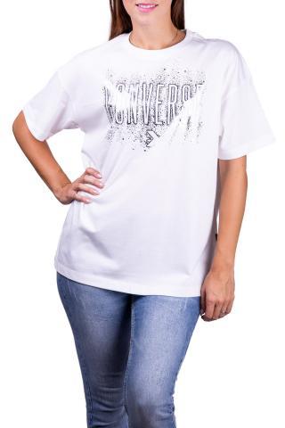 Converse biele tričko White/Silver - XS dámské biela XS
