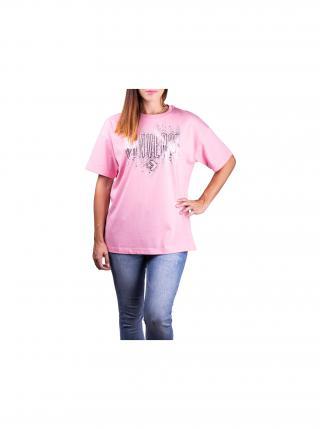 Converse ružové tričko Pink/Silver dámské ružová S