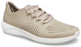 Crocs béžové tenisky LiteRide Pacer Cobblestone/White - 48/49 dámské béžová 48/49
