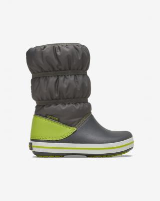 Crocs Crocband™ Winter Snehule detské Zelená pánské 34-35