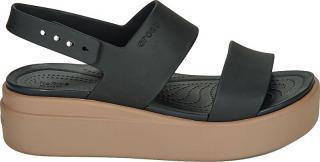 Crocs Dámske sandále Crocs Brooklyn Low Wedge W Black / Mushroom 206453-07H 39-40 dámské