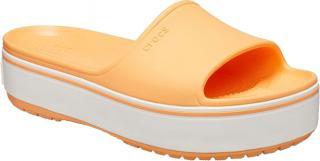Crocs Dámske šľapky Crocband Platform Slide Cantaloupe / White 205631-82S 42-43 dámské