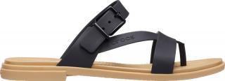 Crocs Dámske šľapky Crocs Tulum Toe Post Sandal W Black / Tan 206108-00W 36-37 dámské