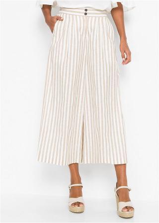 Culotte nohavice dámské biela 44,36,38,40,42,46,48,50