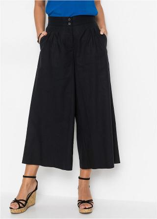 Culotte nohavice dámské čierna 44,36,38,40,42,46,48,50