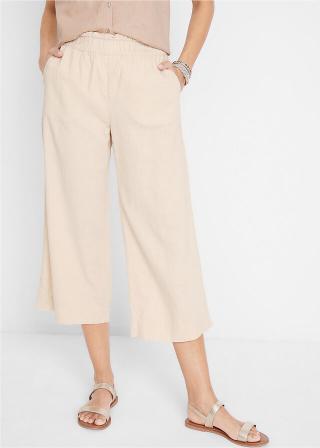 Culotte nohavice, po lýtka dámské šedá 42,46,48,50,52,40,44,36,38