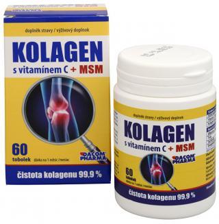 Dacom Pharma Kolagén s vitamínom C   MSM 60 tob.